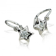 Zlaté dětské náušnice hvězdičky Cutie jewellery C1942