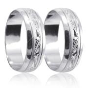 Stříbrné snubní prsteny 04.A21
