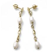 Zlaté náušnice s perlami 740.00006