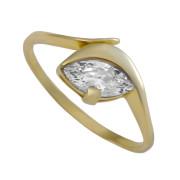 Zlatý prsten se zirkonem 010.00332