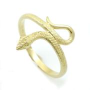 Prsten ze žlutého zlata had AT72