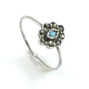 Stříbrný prsten s tyrkysem - portugalské šperky AS-ISAN 79