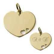 Zlatý přívěsek  srdce s průřezy ZZ10. Heartdest