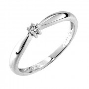 Prsten z bílého zlata s diamantem Gems Denisa 990.386-0218