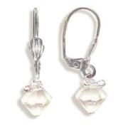 Stříbrné náušnice s krystaly Swarovski 10020027