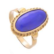 Prsten ze žlutého zlata s lápisem 930.00052