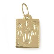 Zlatý přívěs znamení Býk destička malá 000.00125
