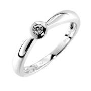 Prsten z bílého zlata s diamantem Gems Adriana 990.386-0683