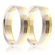 Snubní prsteny - kombinace zlata 04.B745