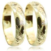 Zlaté snubní prsteny 04.K5