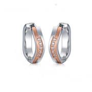Ocelové náušnice kroužky se zirkony Josefína 06.021