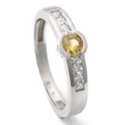 Zlatý prsten s pravým žlutým safírem 911.00002