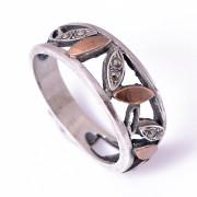 Prsten z portugalského stříbra s markazity AS-ISAN510