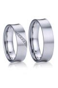 Stříbrné snubní prsteny Diego a Frida 032