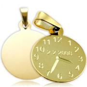 Přívěsek ZZ20.P10 křtící hodiny - žluté zlato