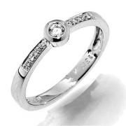 Elegantní prsten z bílého zlata s diamanty Gems Ida 990.386-1257