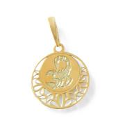 Zlatý přívěsek znamení Štír kolečko 000.00120