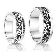 Stříbrné snubní prsteny Ashton a Mila 043