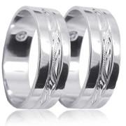 Snubní prsteny bílé zlato 04.K22