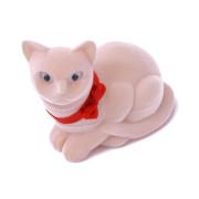 Krabička sametová kočka béžová FU-69-A20