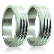 Ocelové snubní prsteny 04.5241