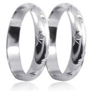 Snubní prsteny z bílého zlata P4R13