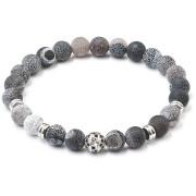 Náramek šedý matný onyx 43012.3