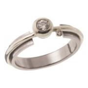 Zásnubní prsten ocel - bílé zlato 05.B726877