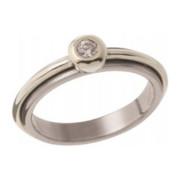 Zásnubní prsten z ocele v kombinaci s bílým zlatem 05.B726875