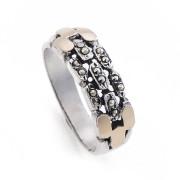Prsten z portugalského stříbra s markazity AF0203