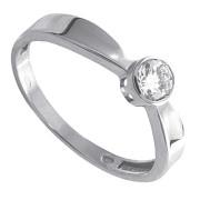 Prsten z bílého zlata se zirkonem 010.00164