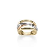 Zlatý luxusní prsten kombinace zlata TRIO S326.00072.1