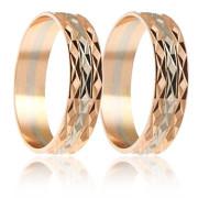 Snubní prsteny - kombinace zlata 04.B253