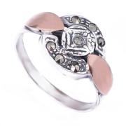 Prsten z portugalského stříbra s markazity 1AF8103