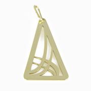 Zlatý přívěsek trojúhelník PA0105