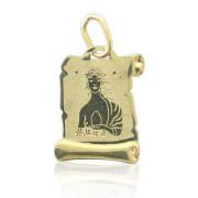 Zlatý přívěsek znamení Panna na pergamenu 000.00075