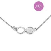 Stříbrný náhrdelník nekonečno RKPLODL00340