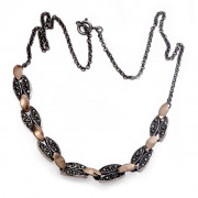 Stříbrný náhrdelník s markazity CM9493