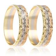 Snubní prsteny - kombinace zlata 04.B499