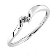 Prsten z bílého zlata s diamantem Gems Manona 990.386-0690