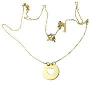 Zlatý náhrdelník se srdíčkem 14.00002