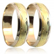 Snubní prsteny v kombinaci zlata B54