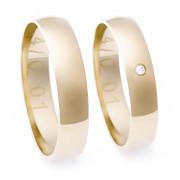 Zlaté snubní prsteny M330