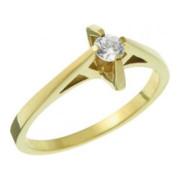 Zásnubní prsten ze žlutého zlata 05.B226863