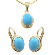 Souprava zlatých šperků s tyrkysem 890.00001