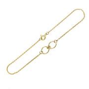 Zlatý náramek s kroužky žluté zlato