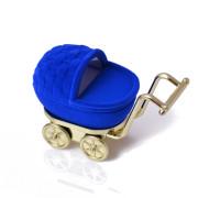 Dárková krabička na šperky kočárek modrý 18706-43