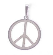 Stříbrný přívěsek symbol peace 000.00112