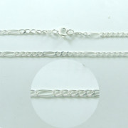 Stříbrný řetízek figaro 5+1 000.00038