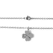 Ocelový náhrdelník se čtyřlístkem a zirkony Brosway MINI 15.BNI16